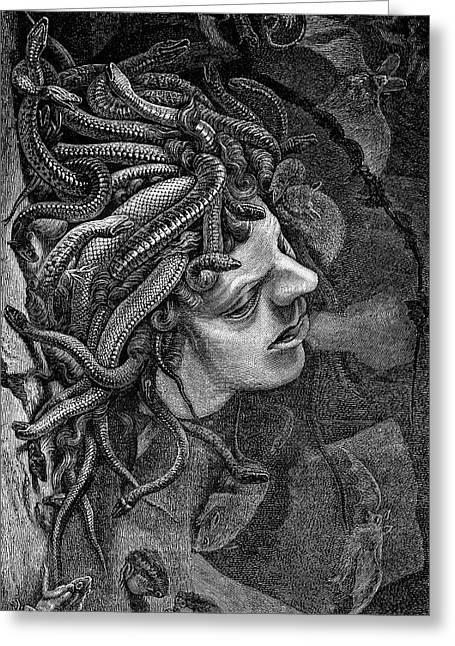 Medusa's Head Greeting Card by Collection Abecasis