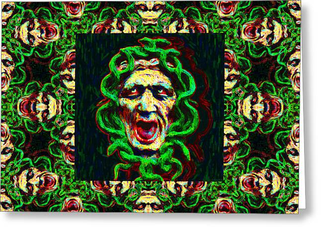 Medusa Digital Greeting Cards - Medusas Window 20130131p0 Greeting Card by Wingsdomain Art and Photography