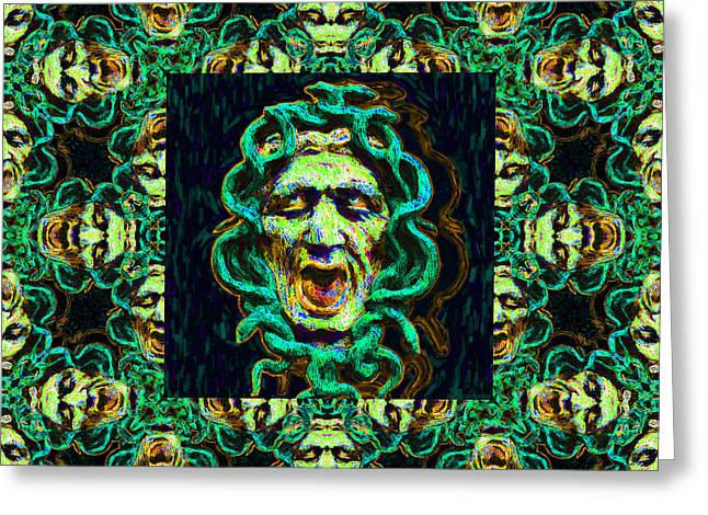 Medusa Digital Greeting Cards - Medusas Window 20130131p38 Greeting Card by Wingsdomain Art and Photography