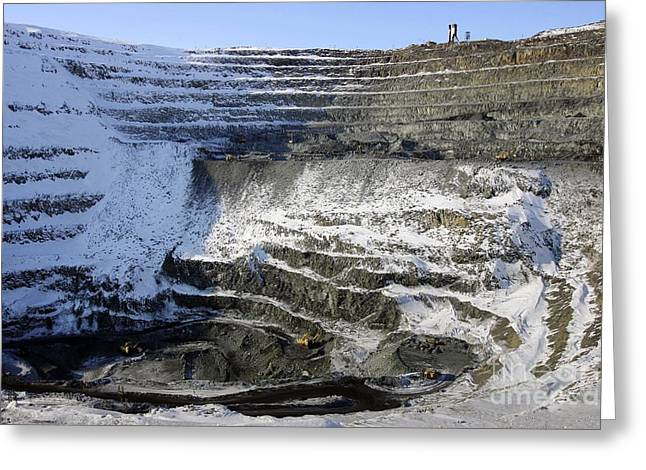Mine Pit Greeting Cards - Medvezhy Ruchei Quarry In Siberia Greeting Card by RIA Novosti