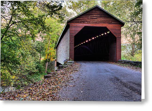 Covered Bridge Greeting Cards - Meems Bottom Greeting Card by JC Findley