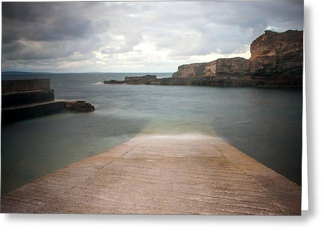 Easy Going Greeting Cards - Meenagahane Pier Greeting Card by Mark Callanan