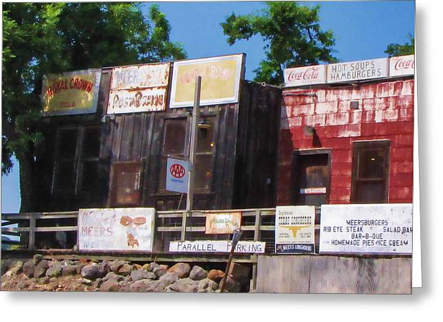 Old Cafe Greeting Cards - Meersburgers Greeting Card by Tony Grider