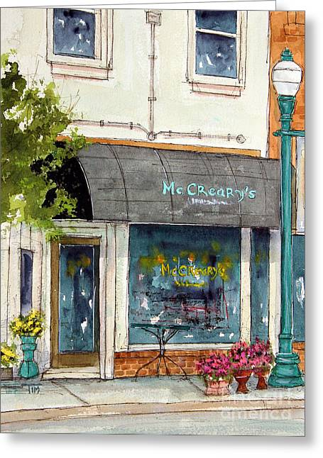 Franklin Tennessee Greeting Cards - Meet Me at McCrearys Greeting Card by Tim Ross