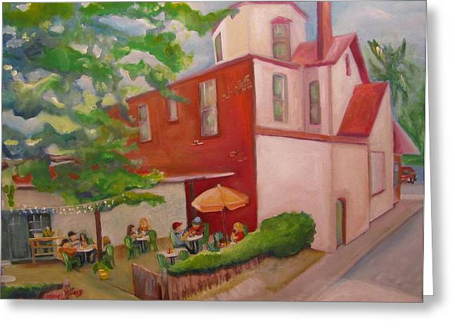 Florida House Greeting Cards - Meet Me at Schmagels Greeting Card by Maria Milazzo