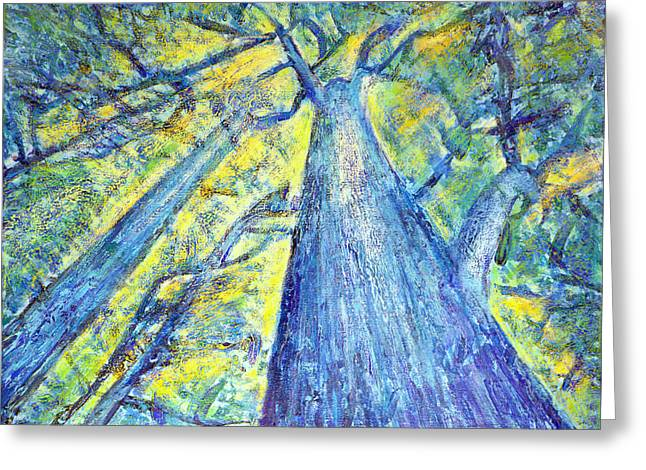 Meet Me By The Tree Greeting Card by Tim Leung