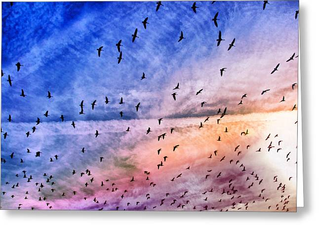Meet Me Halfway Across The Sky 2 Greeting Card by Angelina Vick