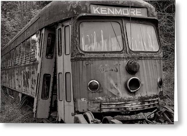 Abandoned Train Greeting Cards - Meet me in Kenmore Square Greeting Card by Edward Fielding