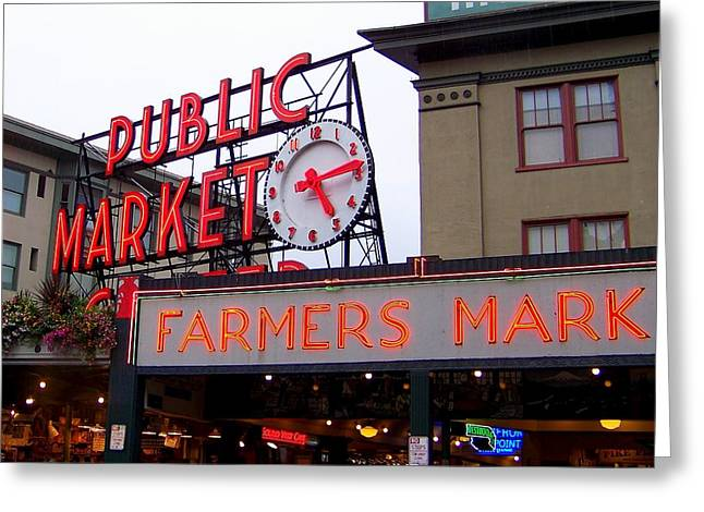 Meet Me In Seattle Greeting Card by Karen Wiles