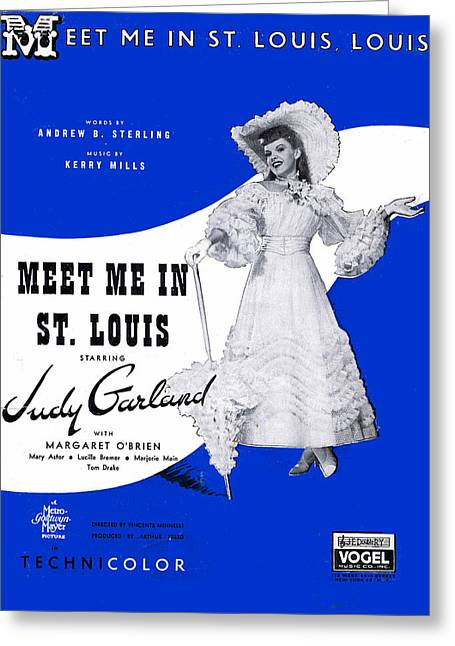 Meet Me In St Louis Louis Greeting Card by Mel Thompson