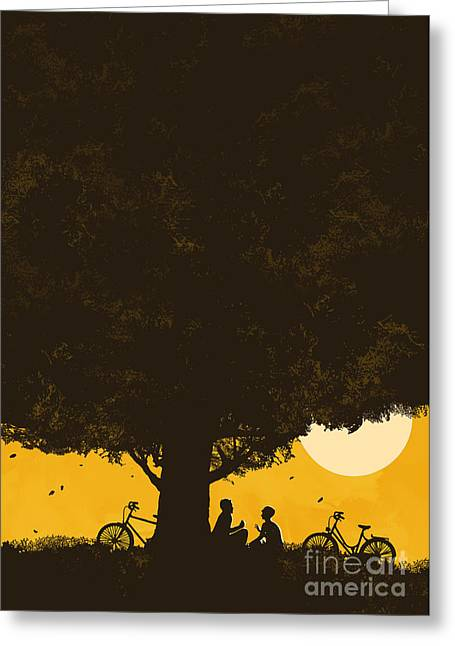Giant Greeting Cards - Meet me under the giant oak tree Greeting Card by Budi Satria Kwan