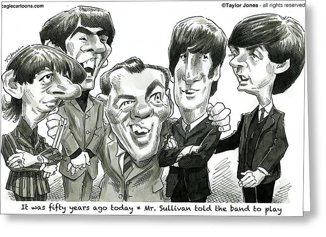 Ringo Starr Drawings Greeting Cards - Meet the Beatles Greeting Card by Taylor Jones