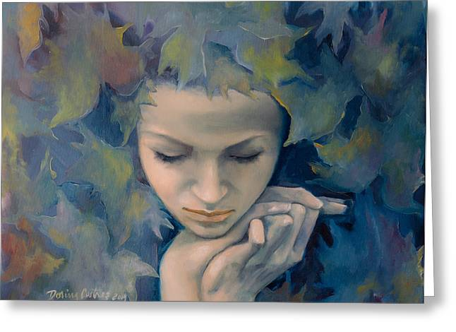 Live Paintings Greeting Cards - Meet The Fall Greeting Card by Dorina  Costras