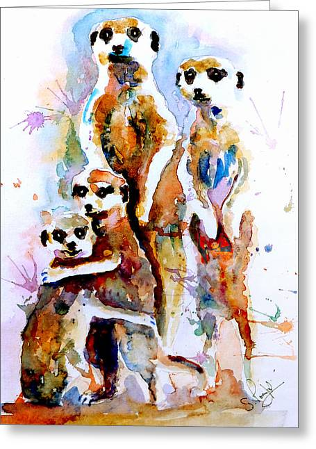 Fine_art Greeting Cards - Meet the family Greeting Card by Steven Ponsford