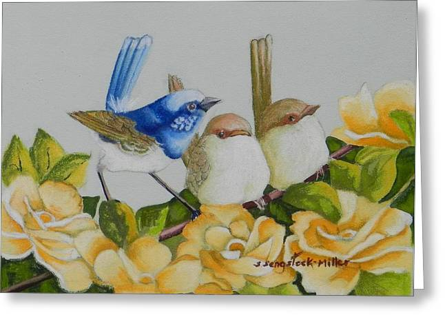 Fauna Pastels Greeting Cards - Meet the Girls  sold Greeting Card by Sandra Sengstock-Miller