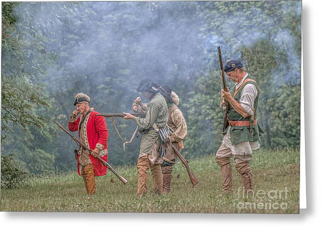 Rogers Rangers Greeting Cards - Meet Them In the Field Grand Encampment Greeting Card by Randy Steele