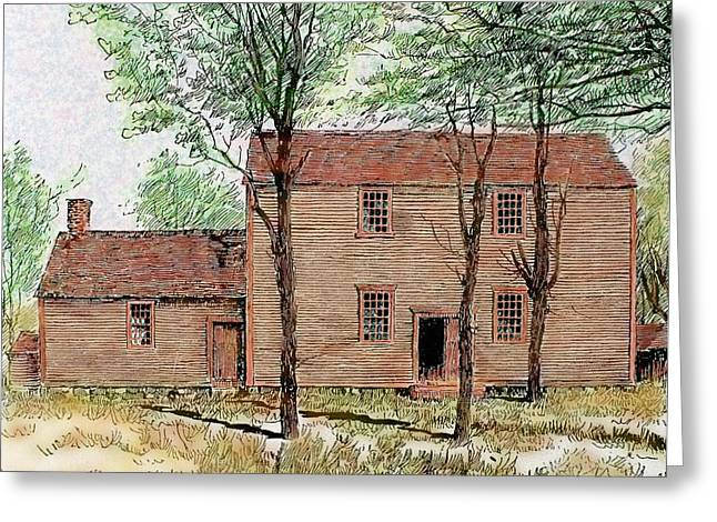 Meeting House Of The Quakers Greeting Card by Prisma Archivo