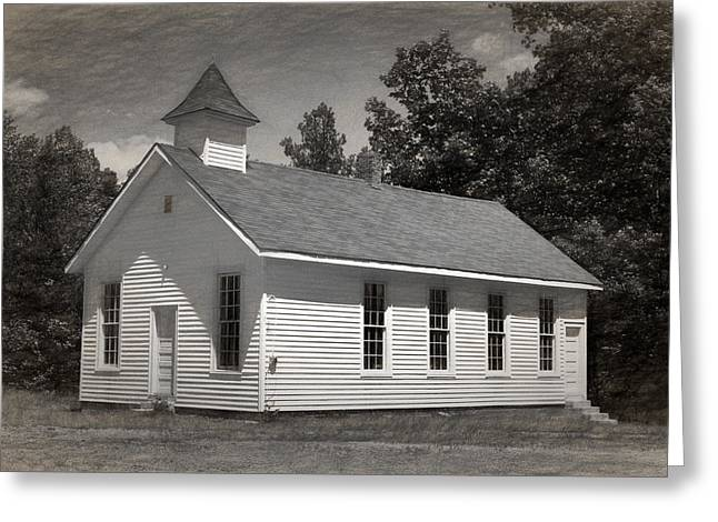 Abandoned Greeting Cards - Meeting House Greeting Card by Richard Rizzo