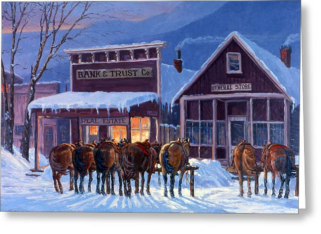 4 Corners Greeting Cards - Meeting of the Board Greeting Card by Randy Follis