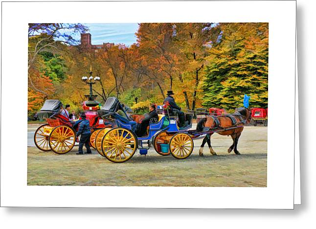 Meeting Of The Carriages Greeting Card by Allen Beatty