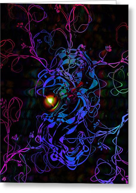 Fineartamerica Greeting Cards - Meeting Of The Vines Greeting Card by Linda Sannuti