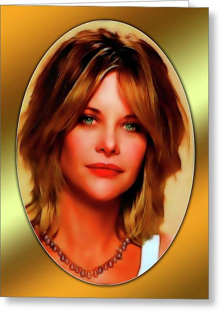 Meg Greeting Cards - Meg Ryan Greeting Card by Tyler Robbins