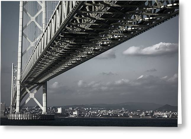 Megabridge Akashi Kaikyo Of Japan Greeting Card by Daniel Hagerman