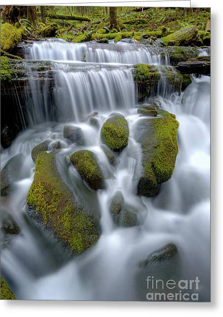 Waterfall Greeting Cards - Megaflow Greeting Card by Marco Crupi