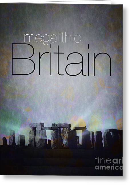 Book Title Digital Art Greeting Cards - Megalithic Britain Greeting Card by Edmund Nagele
