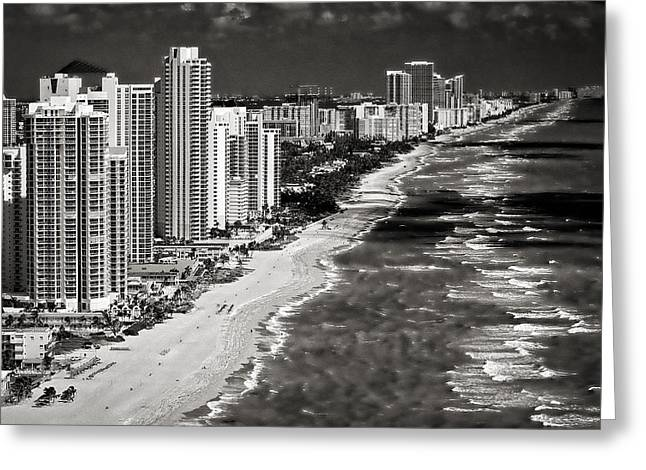 Hallandale Beach Greeting Cards - Megalopolis Greeting Card by Patrick M Lynch