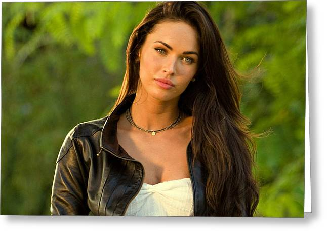 Sex Symbol Photographs Greeting Cards - Megan Fox  Greeting Card by Movie Poster Prints