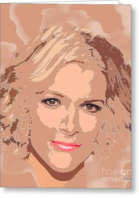 Tv Anchor Greeting Cards - Megyn Kelly Fox News Greeting Card by Dalon Ryan