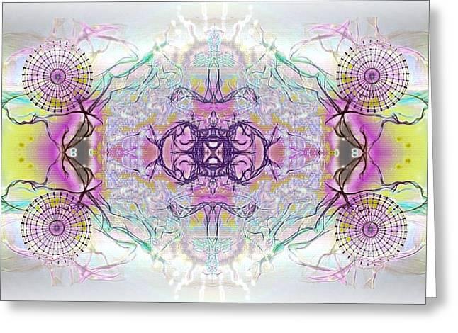 Archangel Ariel Greeting Cards - Mekin Greeting Card by Raymel Garcia