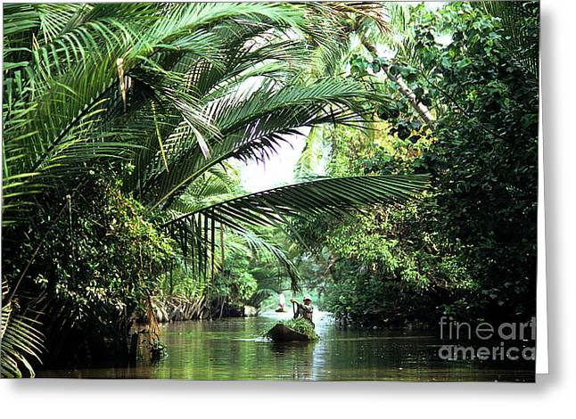 Overhang Greeting Cards - Mekong Delta Backwater 01 Greeting Card by Rick Piper Photography