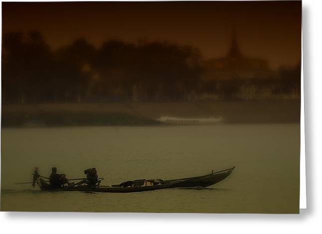 Conservative Greeting Cards - Mekong River Scene Greeting Card by David Longstreath