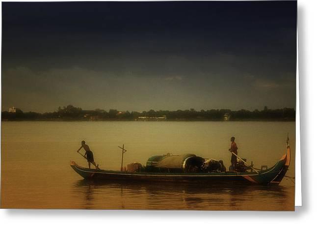 David Longstreath Greeting Cards - Mekong Sunrise Greeting Card by David Longstreath