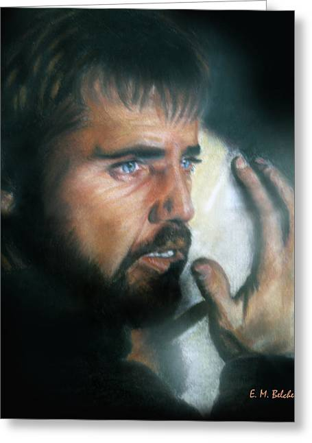 Los Angeles Pastels Greeting Cards - Mel Gibson Greeting Card by Erica Belcher