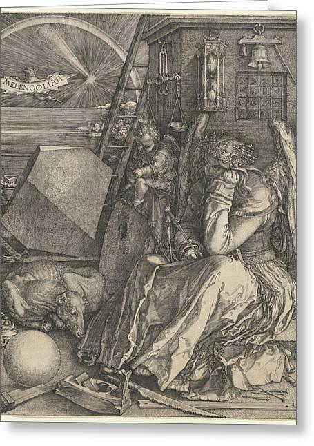 Albrecht Greeting Cards - Melancholia I Greeting Card by Albrecht Durer