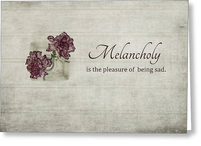 Mother Gift Greeting Cards - Melancholy Greeting Card by Kim Hojnacki