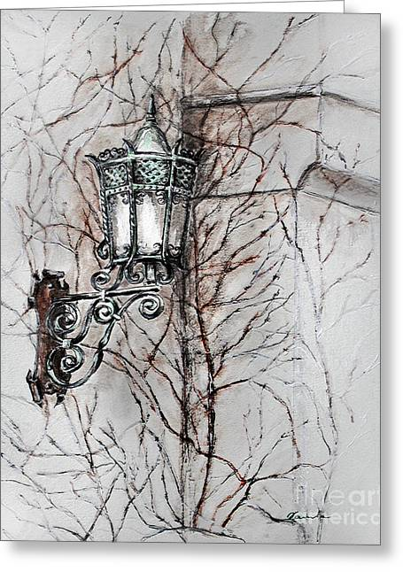 Daylight Drawings Greeting Cards - Melancholy of the wall Greeting Card by Danuta Bennett
