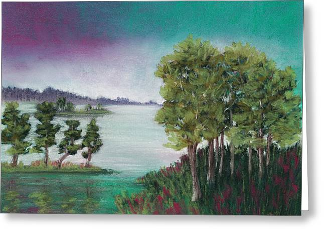 Surreal Landscape Pastels Greeting Cards - Melancholy Thoughts Greeting Card by Anastasiya Malakhova