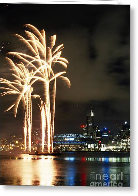Festivities Greeting Cards - Melbourne Moomba Waterfest Greeting Card by William D. Bachman