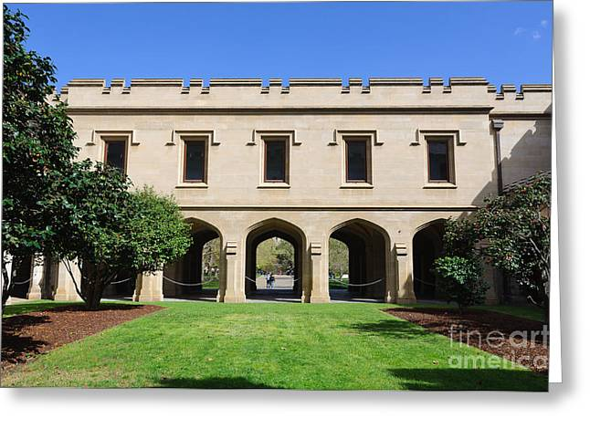 The Quadrangle Greeting Cards - Melbourne University - Old Quad Greeting Card by David Hill