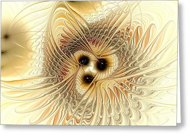 Water Flowing Mixed Media Greeting Cards - Meld Greeting Card by Anastasiya Malakhova