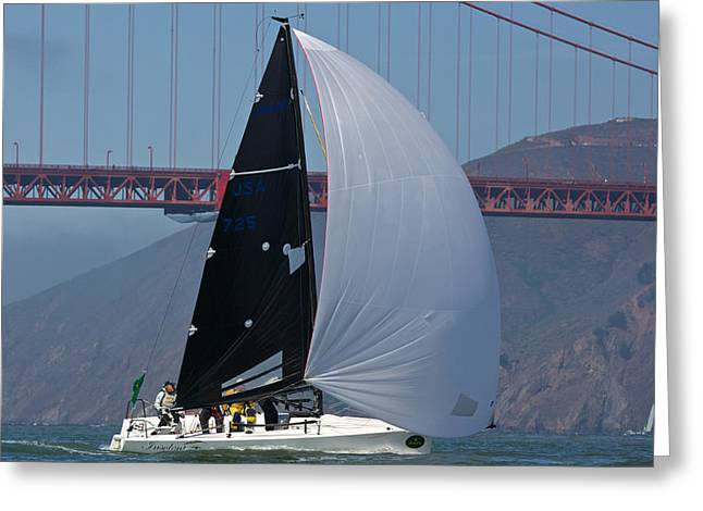 Sausalito Greeting Cards - Melges 24 at The Gate Greeting Card by Steven Lapkin