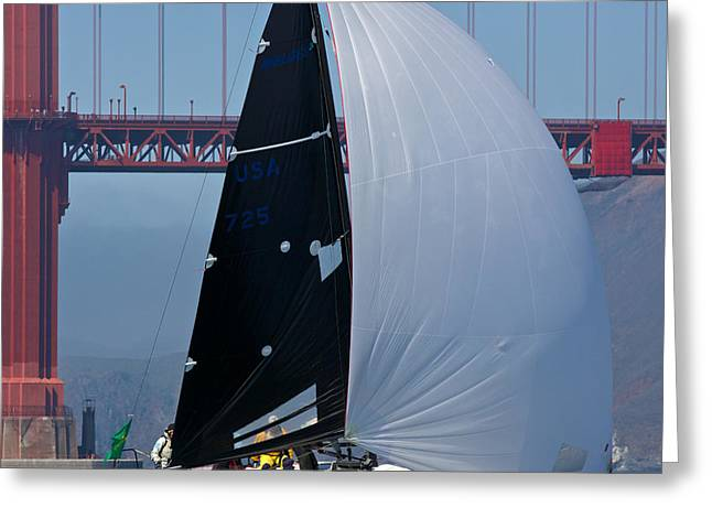 Sausalito Greeting Cards - Melges South Tower Greeting Card by Steven Lapkin