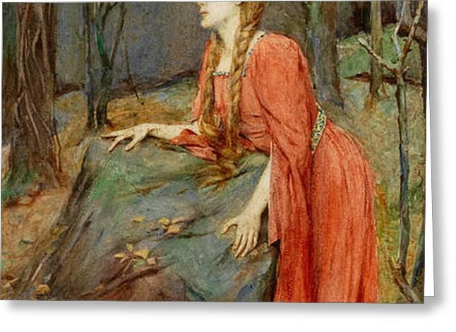 Melisande Greeting Card by Henry Meynell Rheam