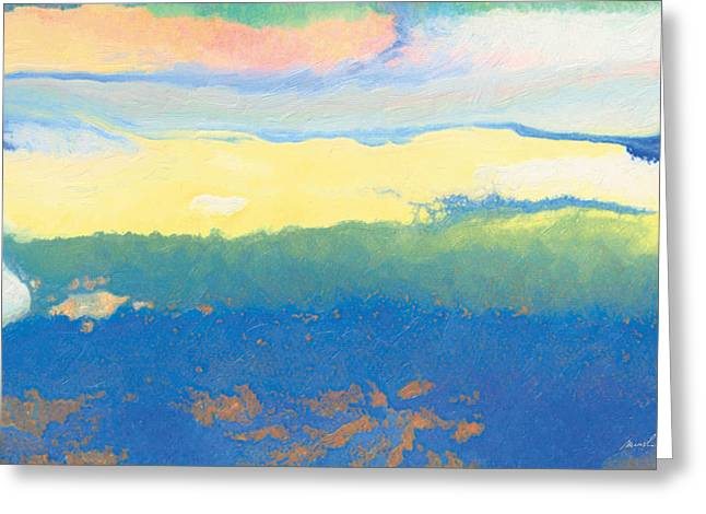 Surreal Landscape Greeting Cards - Mellow Light Greeting Card by Jeanette Charlebois
