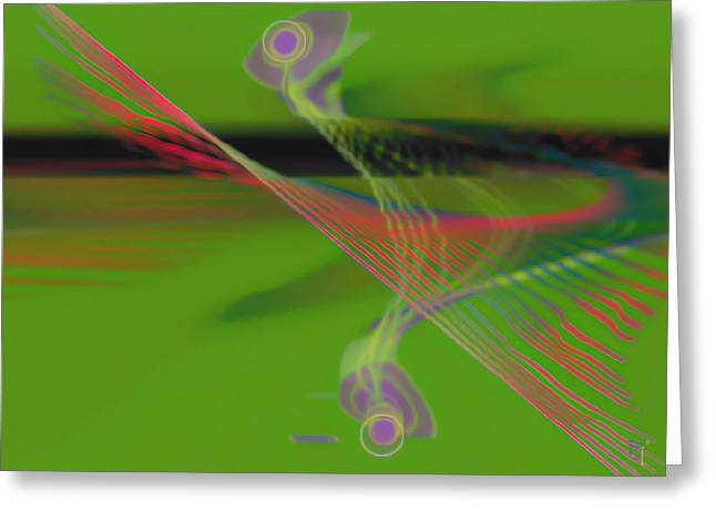 Abstract Digital Art Digital Art Greeting Cards - Melody Greeting Card by  Fli Art