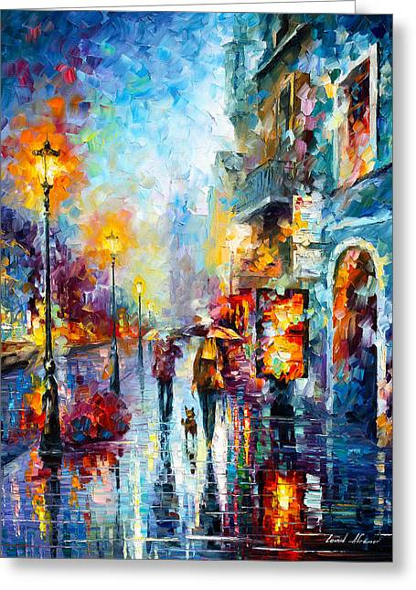 Melody Of Passion Greeting Card by Leonid Afremov
